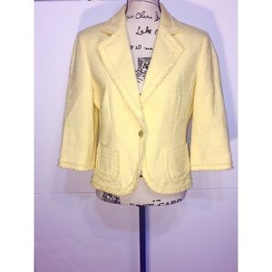 Classiques Entier Collared 3/4 Sleeve Blazer